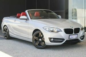 2015 BMW 2 Series F23 220i Sport Line Glacier Silver 8 Speed Sports Automatic Convertible