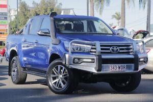 2015 Toyota Hilux GUN126R SR5 Double Cab Blue 6 Speed Sports Automatic Utility Upper Mount Gravatt Brisbane South East Preview