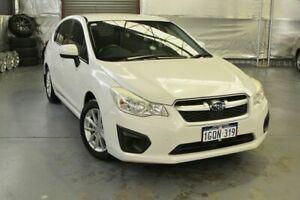 2012 Subaru Impreza G4 MY13 2.0i Lineartronic AWD Pearl White 6 Speed Constant Variable Hatchback Myaree Melville Area Preview