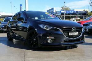 2016 Mazda 3 BM5438 SP25 SKYACTIV-Drive Astina Black 6 Speed Sports Automatic Hatchback Penrith Penrith Area Preview