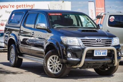 2015 Toyota Hilux GGN25R MY14 SR5 Double Cab Eclipse Black 5 Speed Automatic Utility
