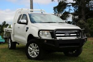 2014 Ford Ranger PX XLT Super Cab White 6 Speed Sports Automatic Utility Officer Cardinia Area Preview