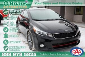 2017 Kia Forte 5-Door SX - Brand New at Used Pricing! w/Leather,