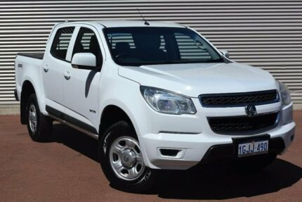 2014 Holden Colorado RG MY14 LX Crew Cab White 6 Speed Sports Automatic Utility Gosnells Gosnells Area Preview