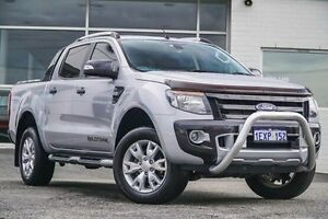 2013 Ford Ranger PX Wildtrak Double Cab Silver 6 Speed Sports Automatic Utility Morley Bayswater Area Preview