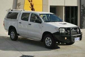 2011 Toyota Hilux KUN26R MY10 SR White 5 Speed Manual Utility Kenwick Gosnells Area Preview