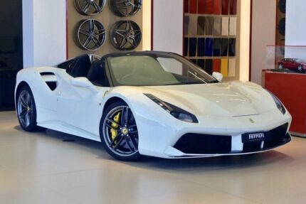 2017 Ferrari 488 Spider F142M DCT Bianco Avus 7 Speed Sports Automatic Dual Clutch Convertible Southport Gold Coast City Preview