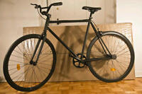 Brand New Fixed Gear Bike All Black (MATTE) -FIXIE Watch|Share W