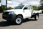 2012 Toyota Hilux KUN26R MY12 Workmate White 5 Speed Manual Cab Chassis Earlville Cairns City Preview