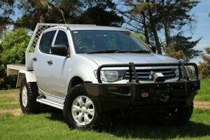 2014 Mitsubishi Triton MN MY15 GLX Double Cab Silver 5 Speed Manual Utility Officer Cardinia Area Preview