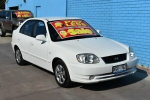 2005 Hyundai Accent LS 1.6 White 4 Speed Automatic Hatchback Enfield Port Adelaide Area Preview