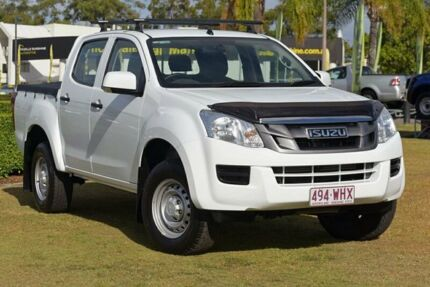 2015 Isuzu D-MAX MY15 SX Crew Cab 4x2 High Ride White 5 Speed Sports Automatic Utility Southport Gold Coast City Preview