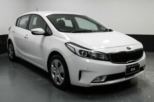 2018 Kia Cerato BD MY19 S White 6 Speed Sports Automatic Hatchback Hamilton East Newcastle Area Preview