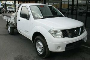 2011 Nissan Navara D40 RX White 6 Speed Manual Cab Chassis Bungalow Cairns City Preview