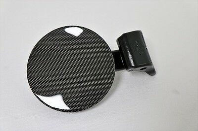 Real Carbon Black Fuel Cover for KIA 2010 2011 2012 2013 Forte Koup