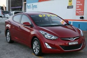 2014 Hyundai Elantra MD Series 2 (MD3) Trophy Red 6 Speed Automatic Sedan Fyshwick South Canberra Preview