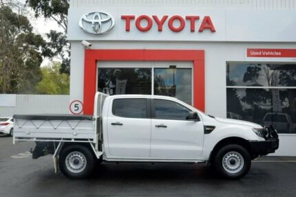 2014 Ford Ranger PX XL Double Cab White 6 Speed Manual Utility Upper Ferntree Gully Knox Area Preview