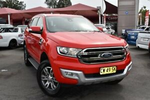 2016 Ford Everest UA Trend 4WD Red 6 Speed Sports Automatic Wagon Tuggerah Wyong Area Preview