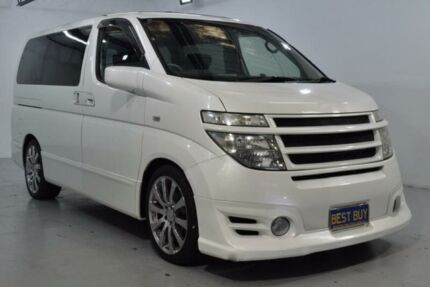 2003 Nissan Elgrand E51 Highwaystar White 5 Speed Automatic Wagon