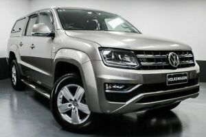 2017 Volkswagen Amarok 2H MY18 TDI550 4MOTION Perm Highline Beige 8 Speed Automatic Utility Hamilton East Newcastle Area Preview