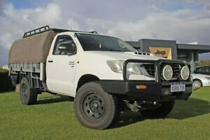 2014 Toyota Hilux KUN26R MY14 SR White 5 Speed Automatic Cab Chassis Wangara Wanneroo Area Preview