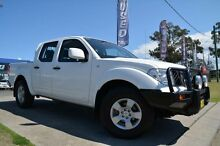 2013 Nissan Navara D40 MY12 RX (4x4) White 6 Speed Manual Dual Cab Pick-up Mulgrave Hawkesbury Area Preview