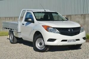 2013 Mazda BT-50 UP0YD1 XT 4x2 White 6 Speed Manual Cab Chassis Wyong Wyong Area Preview