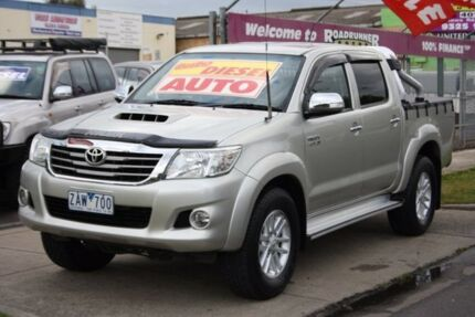 2012 Toyota Hilux KUN26R MY12 SR5 Double Cab Silver 4 Speed Automatic Utility Altona North Hobsons Bay Area Preview
