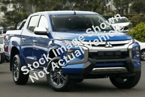 2019 Mitsubishi Triton MR MY19 GLS Double Cab Blue 6 Speed Sports Automatic Utility Hoppers Crossing Wyndham Area Preview