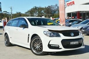 2016 Holden Commodore Vfii MY16 SS Black Edition White 6 Speed Automatic Sportswagon Wyoming Gosford Area Preview