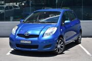 2010 Toyota Yaris NCP90R MY10 YR Blue 4 Speed Automatic Hatchback Cardiff Lake Macquarie Area Preview