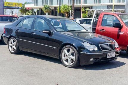 2004 Mercedes-Benz C180 Kompressor W203 MY2003 Elegance Black 5 Speed Automatic Sedan