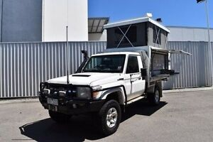 2011 Toyota Landcruiser VDJ79R MY10 GXL White 5 Speed Manual Cab Chassis Berwick Casey Area Preview