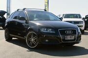2010 Audi A3 8P MY10 Attraction Sportback S tronic Brilliant Black 7 Speed Robina Gold Coast South Preview