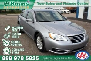 2013 Chrysler 200 Touring - Accident Free! w/Command Start