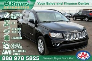 2015 Jeep Compass High Altitude - Accident Free! w/4x4 Leather