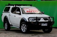 2009 Mitsubishi Triton ML MY09 GLX-R Double Cab White 4 Speed Automatic Utility Ringwood East Maroondah Area Preview