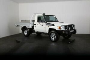 2015 Toyota Landcruiser VDJ79R MY12 Update Workmate (4x4) White 5 Speed Manual Cab Chassis McGraths Hill Hawkesbury Area Preview