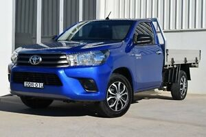 2015 Toyota Hilux GUN123R SR Blue 5 Speed Manual Cab Chassis Rutherford Maitland Area Preview