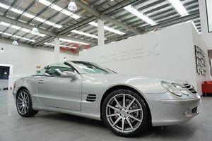 2004 Mercedes-Benz SL350 R230 Brilliant Silver 5 Speed Auto Touchshift Convertible Port Melbourne Port Phillip Preview