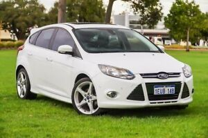 2014 Ford Focus LW MkII Titanium PwrShift White 6 Speed Sports Automatic Dual Clutch Hatchback