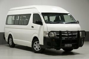 2012 Toyota HiAce KDH223R MY11 Upgrade Commuter White 5 Speed Manual Bus