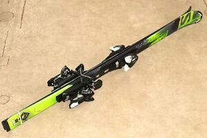 New, Never Used Salomon 130cm skis/bindings & size 23.0 boots London Ontario image 1