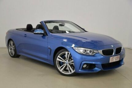 2014 BMW 435i F33 Blue 8 Speed Sports Automatic Convertible Mansfield Brisbane South East Preview