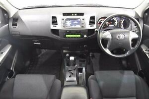 2014 Toyota Hilux KUN26R MY14 SR5 Double Cab White 5 Speed Automatic Utility Narre Warren Casey Area Preview