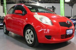 2008 Toyota Yaris NCP91R 08 Upgrade YRS Red 4 Speed Automatic Hatchback Victoria Park Victoria Park Area Preview