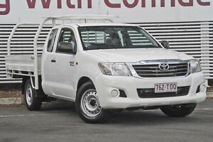 2011 Toyota Hilux GGN15R MY10 SR Xtra Cab White 5 Speed Automatic Utility Mount Gravatt Brisbane South East Preview