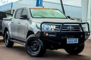 2016 Toyota Hilux GUN126R SR Double Cab Silver Sky 6 Speed Sports Automatic Utility Wangara Wanneroo Area Preview