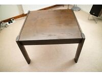 Dark solid wood coffee table