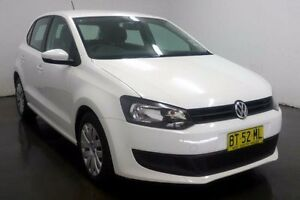 2012 Volkswagen Polo 6R Trendline White Sports Automatic Dual Clutch Hatchback Cabramatta Fairfield Area Preview